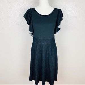 Free People Ruffle Fit And Flare Dress Medium